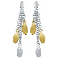 EA614   Gold Plated Drop Earrings Sterling Silver Ari D Norman